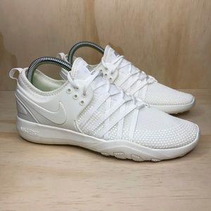 NEW Nike Free Tr Seven Triple White